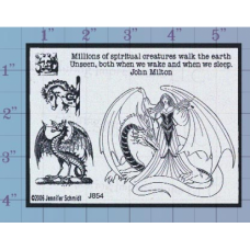 Creatures Unmounted Stamp