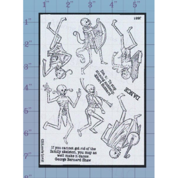 Skeleton Musicians Unmounted Stamp