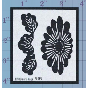 Bold Flower Unmounted Stamp