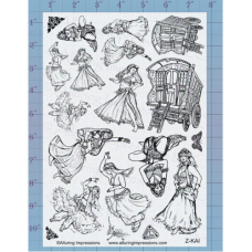 Belly Dancers Unmounted Stamp