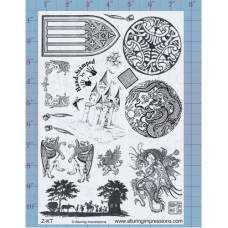 Dragons and Castles Unmounted Stamp