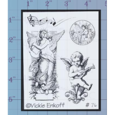 Musical Angels Unmounted Stamp