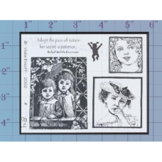 Young Girls Unmounted Stamp