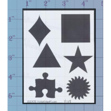 Solid Shapes Unmounted Stamp