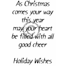 All Good Cheer Cling Stamp