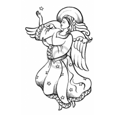 Angel of Peace Cling Stamp
