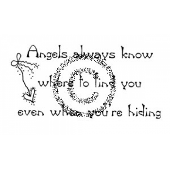 Angels Know Cling Stamp