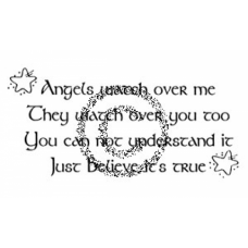 Angels Watch Cling Stamp