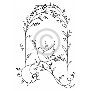 Arch with Dove Cling Stamp
