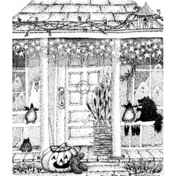 Autumn Porch Cling Stamp