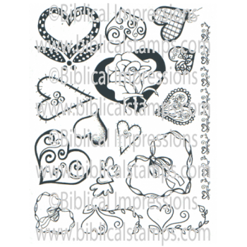 Hearts Unmounted Stamps