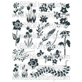 Solid Flowers Unmounted Stamps
