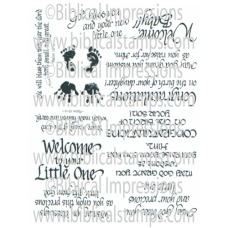 Welcome Baby Unmounted Stamps