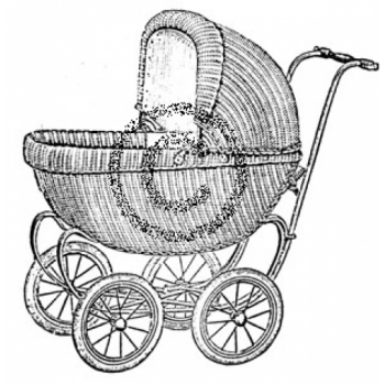 Baby Buggy Cling Stamp