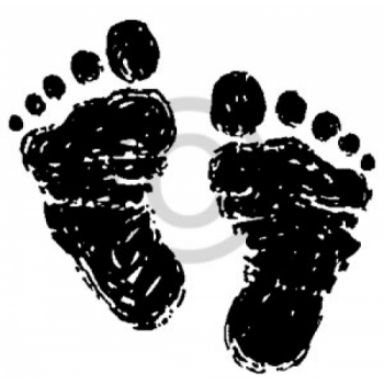 Baby Feet Cling Stamp