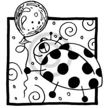 Balloon Bug Cling Stamp