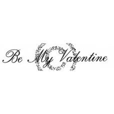 Be My Valentine Cling Stamp