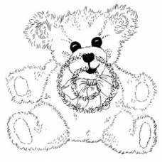 Bear Cling Stamp