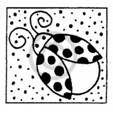 Beetle Dots Cling Stamp