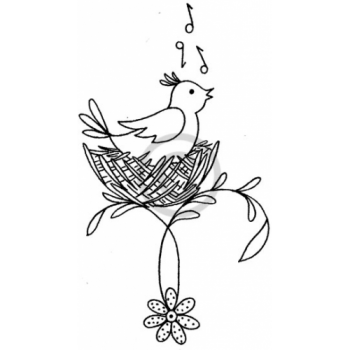 Bird Song Cling Stamp