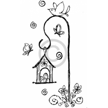 Birdhouse Cling Stamp
