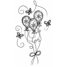 Birthday Balloons Cling Stamp