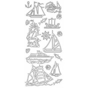Boats Outline Stickers