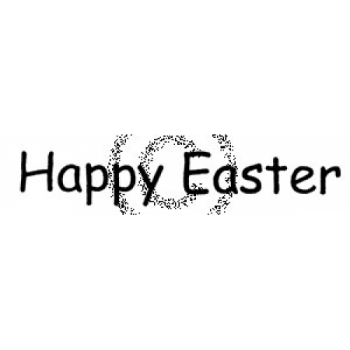Bold Happy Easter Cling Stamp