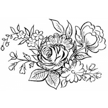 Bouquet Cling Stamp