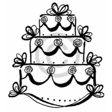 Bow Cake Cling Stamp