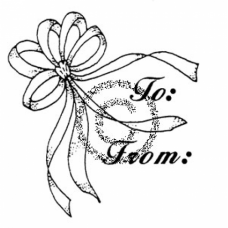 Bow Gift Tag Cling Stamp