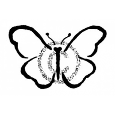 Brushed Butterfly Cling Stamp