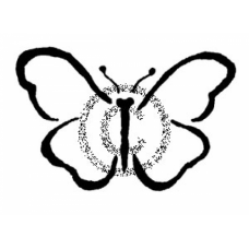 Brushed Butteryfly Cling Stamp