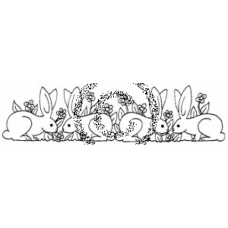 Bunny Border Cling Stamp