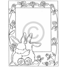 Bunny Frame Cling Stamp