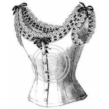 Bustier w/Lace, Art Acetate