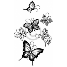 Butterflock Cling Stamp