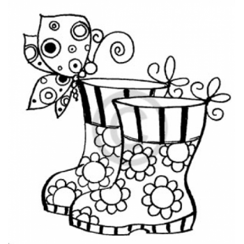 Butterfly Boot Cling Stamp