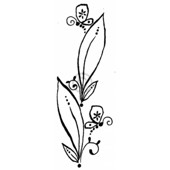 Butterfly Leaves Cling Stamp