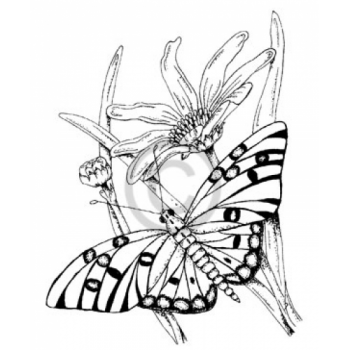 Butterfly Nectar Cling Stamp