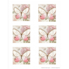 Vintage Hues Vellum, Butterfly Postale