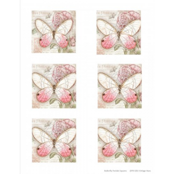 Butterfly Postale Squares, Vintage Hue Acetate