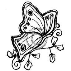 Butterfly Sketch Cling Stamp