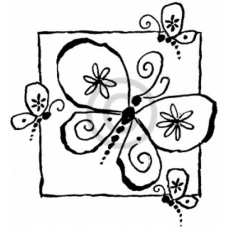 Butterfly Square Cling Stamp