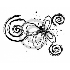 Butterfly Swirl Cling Stamp