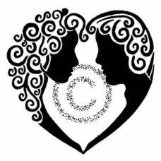 Cameo Heart Cling Stamp