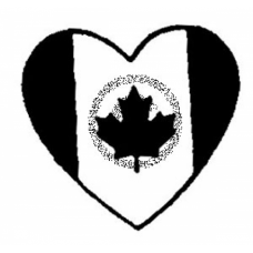 Canadian Heart Cling Stamp