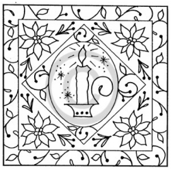 Candle Frame Cling Stamp