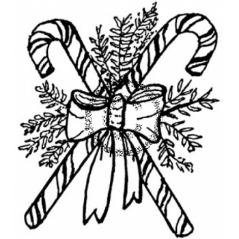 Candy Canes Cling Stamp