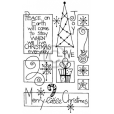 Christmas Collage Cling Stamp